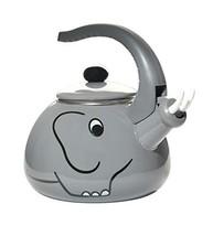 HOME-X Gray Elephant Whistling Tea Kettle, Animal Teapot, Kitchen Access... - $44.10