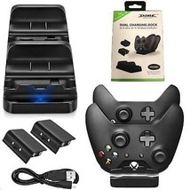 Dual Charging Dock Station For Xbox one Wireless Controller With 2x Batt... - $21.61