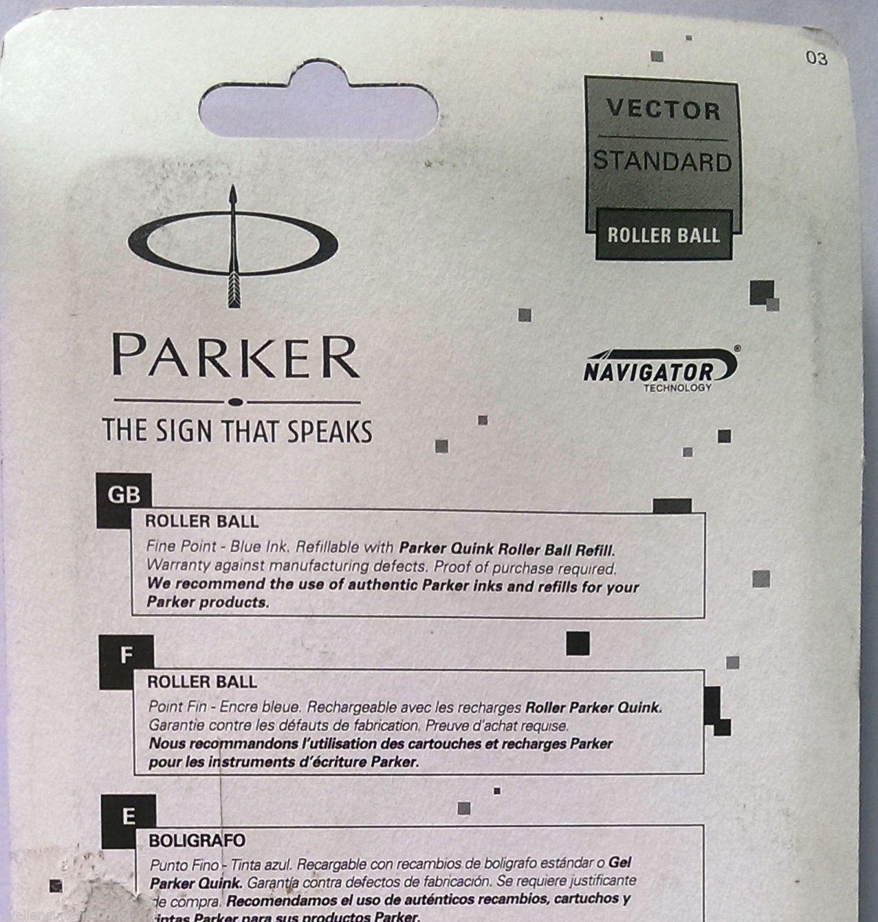 Parker Vector Standard  Roller Ball Pen  Body Color Black