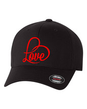 LOVE FOREVER HEART *** Flex Fit HAT *FREE SHIPPING in BOX* - $19.99