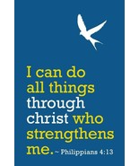 Philippians 4 13 I Can Do All Things Through Christ Motivational Art Fre... - $25.86