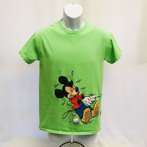 Disney Mickey Pluto Walk Fire Hydrant Graphic T-Shirt Lime Green Size 12... - $19.79