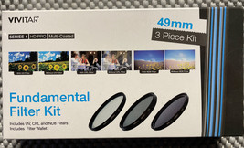 VIVITAR FUNDAMENTAL FILTER KIT 49MM UV, CPL, ND8 with Filter Wallet - $12.86