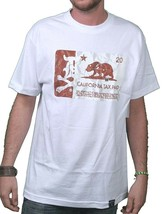 Dissizit! Mens Black or White Cigarette Calitax Stamp California Tax T-Shirt NWT