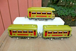 Lionel Prewar 529 529 530 Green Passenger Car Set Nice Originals - $139.99