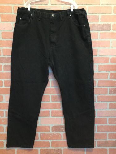 43d0bc45 12. 12. Previous. Wrangler Mens Jeans 43 X 32 (Tag Reads 46 X 32) Relaxed  Fit Black