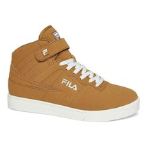 Mens Fila Vulc 13 Tan Mid Top Gym Shoes Brown Casual Fashion Sneakers Si... - $56.09