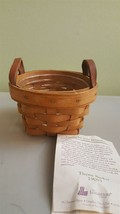 Longaberger 1995 Thyme Booking Basket Leather Strap Handles 19003 With P... - $14.00