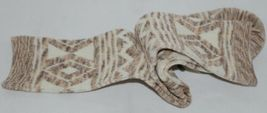 Simply Noelle Cream Chocolate And Tan Crew Sock One Size Fits Most image 5