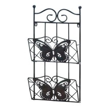 **CLEARANCE SALE 50% OFF** BUTTERFLY 2-TIER MAGAZINE WALL RACK Organizer - $19.75