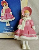 Madame Alexander Little Women Amy March 2004 Hallmark Ornament Pink Coat... - $14.95