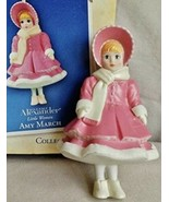 Madame Alexander Little Women Amy March 2004 Hallmark Ornament Pink Coat... - $14.95