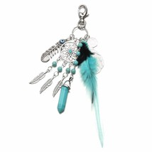 Tassel Feather Keychain Key Ring Bags Pendant - $13.60