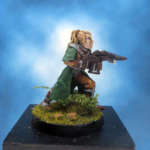 Painted Ral Partha Crucible Miniature Elf Infantry Archer I - $37.25