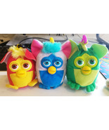FURBY plush KEYCHAINS Backpack Clip Ons lot of 3 2000 fast food stuffed ... - $7.99