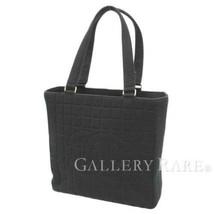 CHANEL Shoulder Bag Chocolate Bar Cotton Leather CC Logo Authentic 5219353 - $522.05