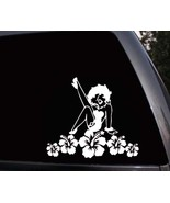 Betty Boop Hawaii Hibiscus Flowers Car Window Laptop Bumper Vinyl Decal ... - $5.99