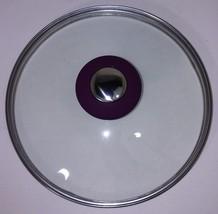NEW COOK'S ESSENTIALS 18CM GLASS LID COVER, POT, SAUCEPAN, SKILLET Purpl... - $19.95