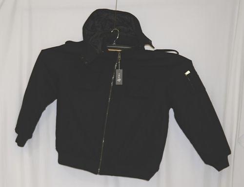 Trust Brand WB170J Wool Nylon 6XL Black Coat Zippered Hooded