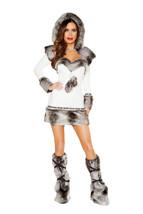 Sexy 2pc Roma Eskimo Hottie Halloween Fancy Dress Costume W/WO LEG WARME... - $85.00