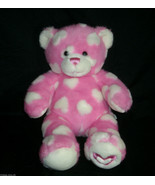 "15"" BUILD A BEAR HUGS FR YOU VALENTINE PINK HEART TEDDY STUFFED ANIMAL P... - $17.60"