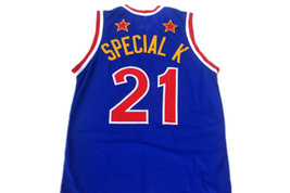 Kevin Special K #21 Harlem Globetrotters Men Basketball Jersey Blue Any Size image 4