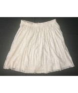 Romeo & Juliet Couture Off White Lace Skirt S Lined Pleated Flowing Holiday - $14.84