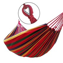 GOCAN Brazilian Double Hammock 2 Person Extra Large Canvas Cotton Hammoc... - $26.28