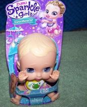 "Sparkle Girlz 6"" Sparkle Sweethearts Baby Doll in Yellow Plastic Bib New - $8.50"