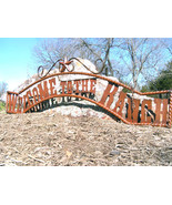 X Large Metal Welcome to the RANCH Sign Wall Entry Gate 56 1/2 inch bz - $179.98