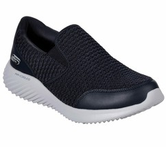 Skechers Navy shoe Men Memory Foam Comfort Slip On Casual Mesh Sport Wal... - $56.99