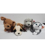 TY Beanie Baby Dogs Bernie 1996 Tricks 2000 Tuffy 1996 and Nanook 1996 L... - $9.90