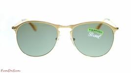 Persol Mens Sunglasses PO7649S 106958 Matte Gold/Green Polar Pilot 53mm - $130.95