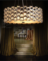 Modern Crystal Drum Cube Chandelier G9 Light Ceiling Lamp Chrome F Light... - $450.80+