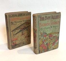 The Boy Allies & Our Young Aeroplane Scouts TWO BOOK LOT Vintage Hayes /... - $32.66
