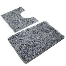 VDOMUS Microfiber Bathroom Contour Rugs Combo Set of 2 Soft Shaggy Non S... - $29.74