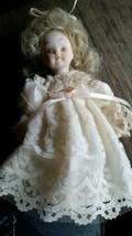 """Vintage 1984 Kurt S.Adler Porcelain 6"""" Doll Ivory Lace - $12.00"""