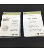 Stampin Up 121958 Bring on the Cake 1 & 2 Birthday Clear Mount Stamps Ne... - $14.01
