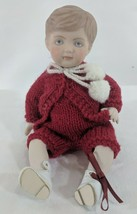 "LM VINTAGE Artist Doll MJM 7"" All Ceramic Fully Jointed Boy Baby Doll Do... - $18.49"