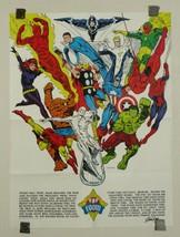 Marvel 1973 Foom poster 1:Spider-man/Hulk/Iron Man/Thor/Captain America/Avengers - $128.69