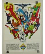 Marvel 1973 Foom poster 1:Spider-man/Hulk/Iron Man/Thor/Captain America/... - $128.69