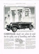 1929 CHRYSLER SPORT PHAETON ORIGINAL MAGAZINE AD - $4.99