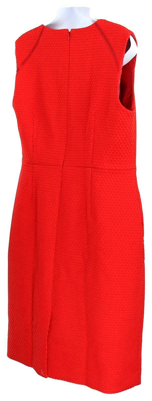 J Crew Women's Portfolio Sheath Dress /Suiting Career Work Red  12 F0791 image 6