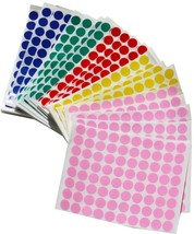 Half Inch Circle Dots Stickers Round Adhesive Color Coding Labels 6000 Pack - $16.34