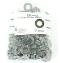 BAG OF 100 NEW AMERSHAM BIOSCIENCES 44-5492-90 EPDM GASKETS 25/12MM, 44549290