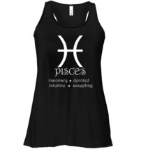 Pisces Zodiac Sign Horoscope Traits Star Astrology Flowy Racerback Tank image 1