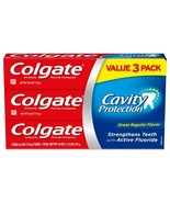 3 Pack Colgate Cavity Protection Toothpaste with Fluoride, Great Regular Flavor  - $4.65