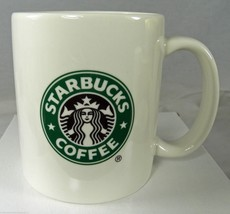 "STARBUCKS 12 oz White Coffee Mug Mermaid Siren Logo 3.75"" 2004 Classic Style - $7.03"