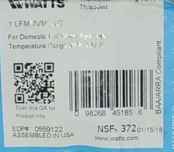 Watts Thermostatic Mixing Valve Threaded 0559122 For Domestic Hot Water Systems image 7