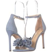 Jessica Simpson Jeena Ankle Strap Heeled Sandals 868, Vintage Blue, 8.5 ... - $27.83